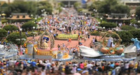 Un día en Eurodisney en Tilt & Shift