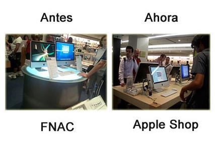 Imagen de la Semana: El antes y el después de la zona Apple en la Fnac