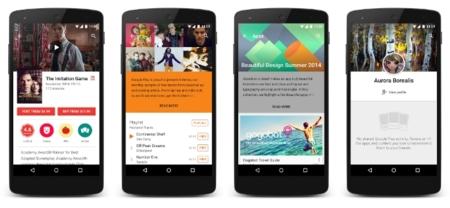 Google Play 5.4.10 muestra la barra de notificaciones transparente