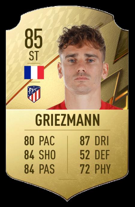 Antoine Griezmann fifa 22 mejores jugadores laliga