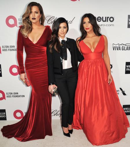 Khloe Kardashian fiesta Elton John Oscar 2014