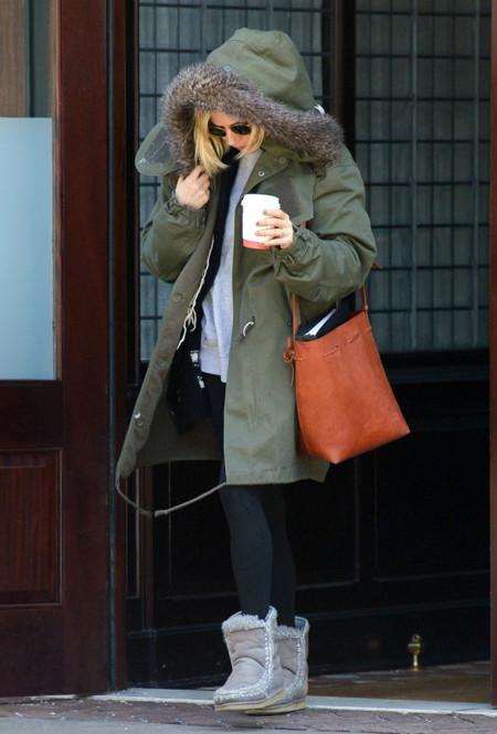 Sienna Miller Parka Look invierno