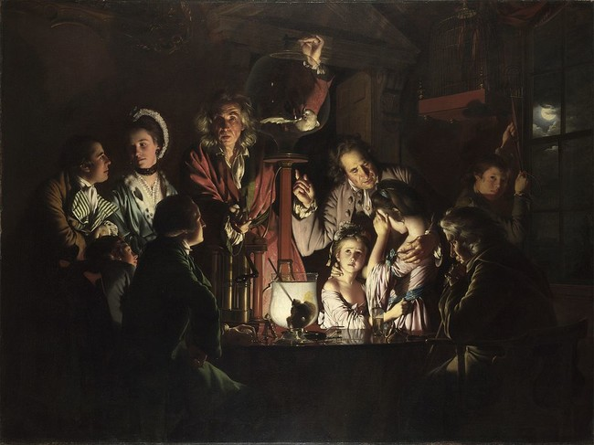 An Experiment On A Bird In An Air Pump By Joseph Wright Of Derby 1768