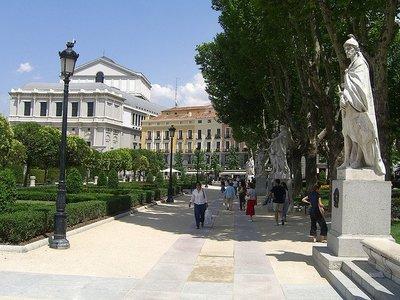 La Plaza de Oriente, en Madrid