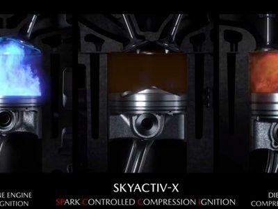 Mazda nos regala un momento de puro hipnotismo: esto es lo que ocurre en la cámara de combustión del motor Skyactiv-X