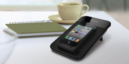 Base de recarga inalámbrica para iPhone 4 y 4S de Philips