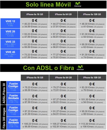 Precios Iphone 6s Con Tarifas Movistar