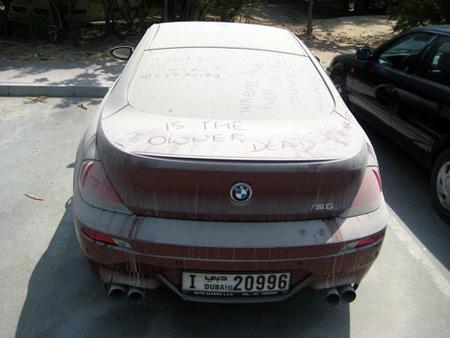 BMW M6 abandonado en Dubai
