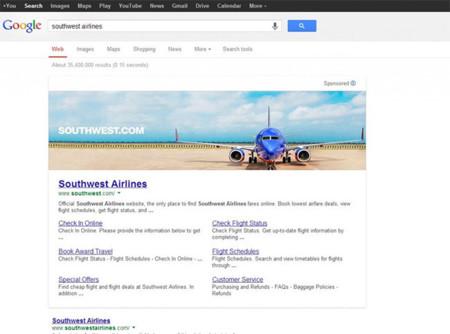 """Google dice """"No"""" a los anuncios gigantes con imágenes en su buscador"""