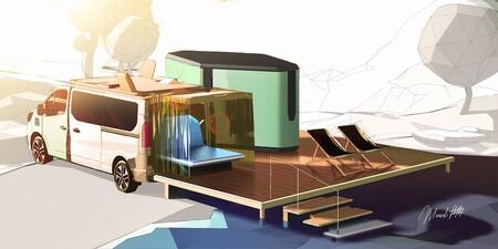 Hippie Caviar Hotel es el nuevo concepto de Renault de lo que debe ser la vida camper: una furgoneta con servicios a demanda