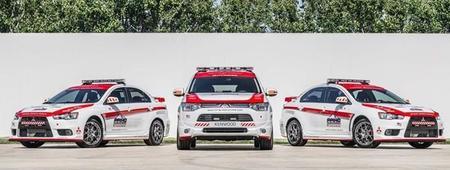 Mitsubishi Lancer Evolution safety car
