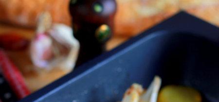 Cogote de merluza al horno con patatas panaderas. Receta