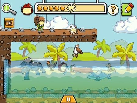 Scribblenauts Remix es un juego para que los peques practiquen y aprendan la relación causa-efecto