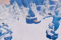 Desafío Fortnite: baila entre tres esculturas de hielo, tres dinosaurios y cuatro fuentes termales. Solución