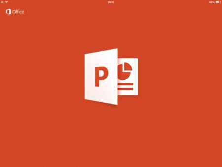 Así es PowerPoint para iPad