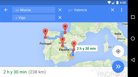 Maps Múltiples Destinos Android