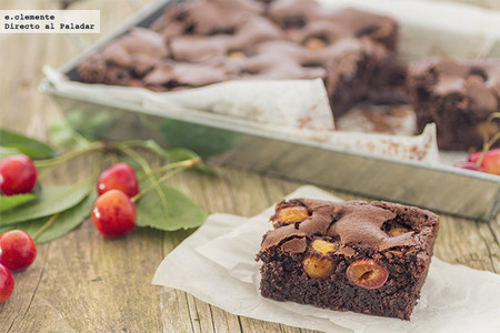Brownie de cerezas. Receta
