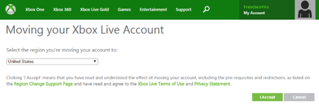 Xbox Live Moving