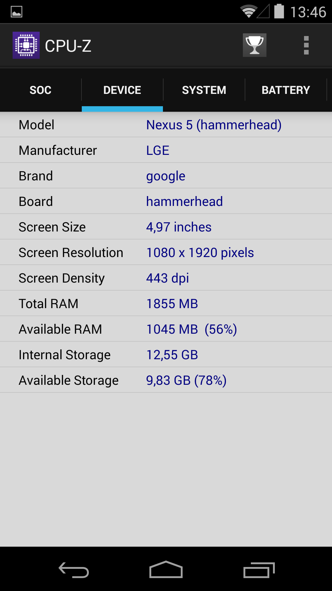 Foto de Benchmarks Nexus 5 Android 4.4.4 (37/37)