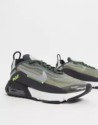 Zapatillas en negro y verde Air Max 2090 de Nike