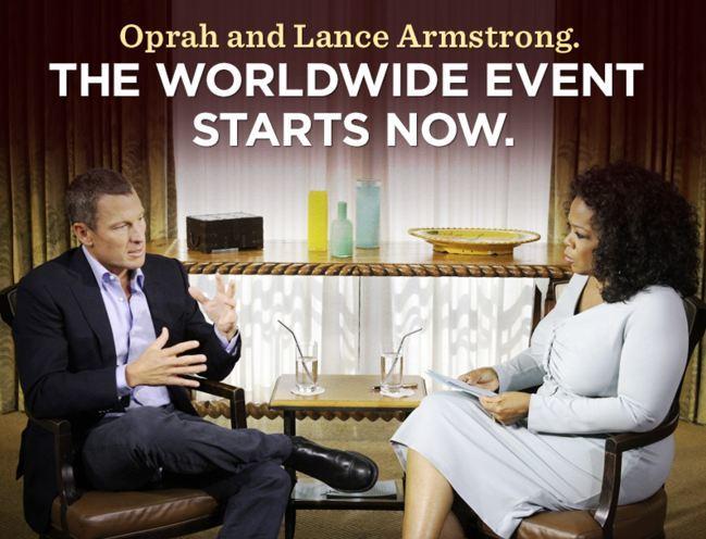 Oprah y Lance Armstrong