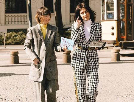 11 prendas con estampado de pata de gallo que el street style ha conseguido que vuelvan a ser lo más