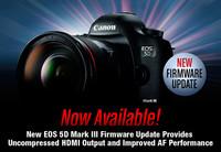 Canon actualiza el firmware de su 5D Mark III con salida de video HDMI sin compresión