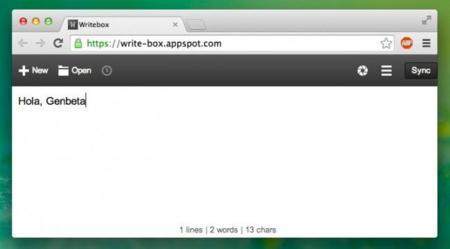 Writebox, un bloc de notas universal para los que se mueven entre dispositivos