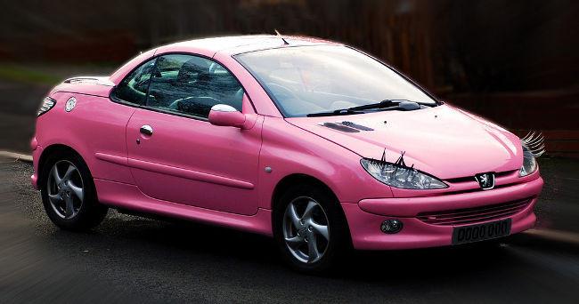Peugeot 206 rosa