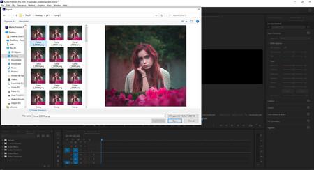 secuencia de imagenes en premiere adobe