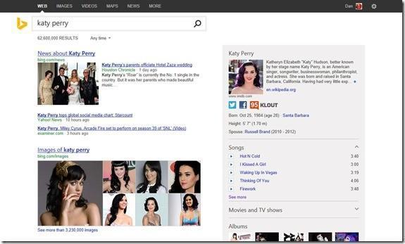 Resultados Bing