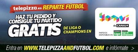 La nueva promoción de Telepizza te regala el partido de fútbol