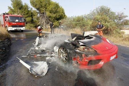 Ferrari está que arde en España: un 360 Modena y un F430 se queman en una misma noche