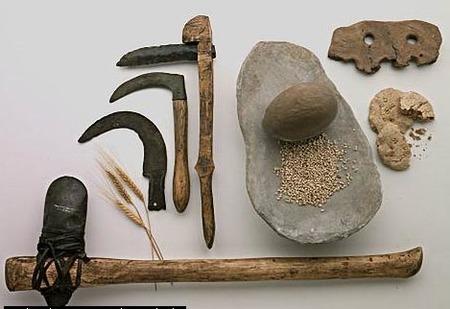 Instrumentos neolíticos para machacar el cereal