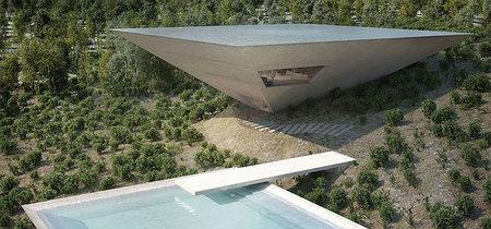Impresionante proyecto de casa en forma de pirámide invertida