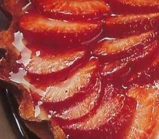 Tarta de fresas con crema