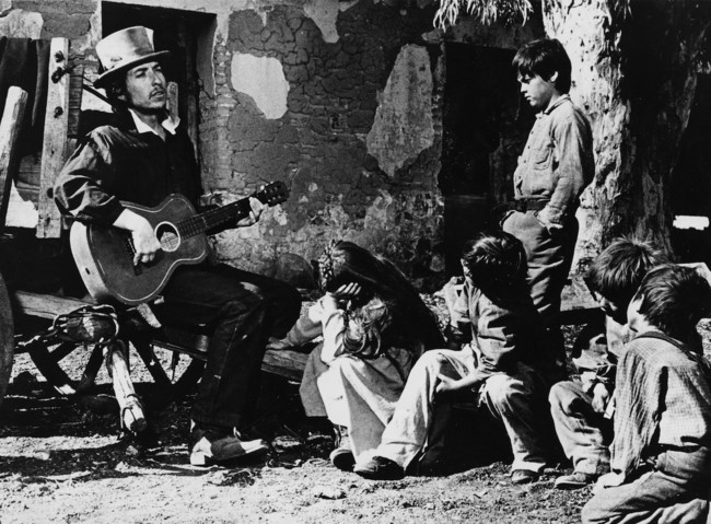 Bob Dylan en el rodaje de Pat Garret y Billy The Kid