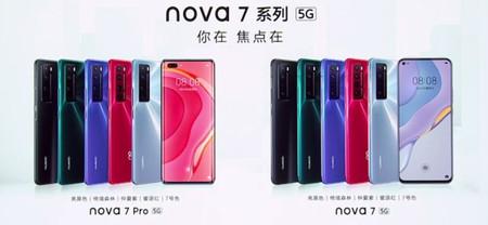 Los nuevos Huawei Nova 7 5G y Nova 7 Pro 5G