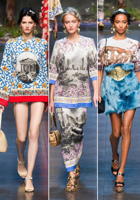 Dolce Gabbana ruinas 2014 verano