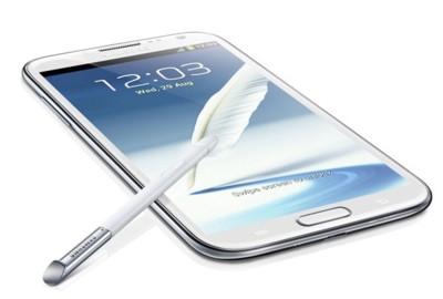 Samsung Galaxy Note II antes de tiempo