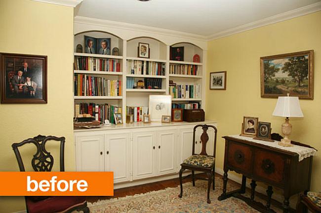 Antes y después el salón de la abuela actualizado