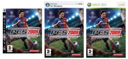 'Pro Evolution Soccer 2009': Portadas y fechas de lanzamiento oficiales