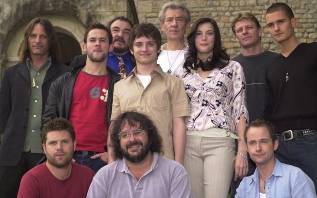 Peter Jackson y el reparto original de El Señor de los Anillos