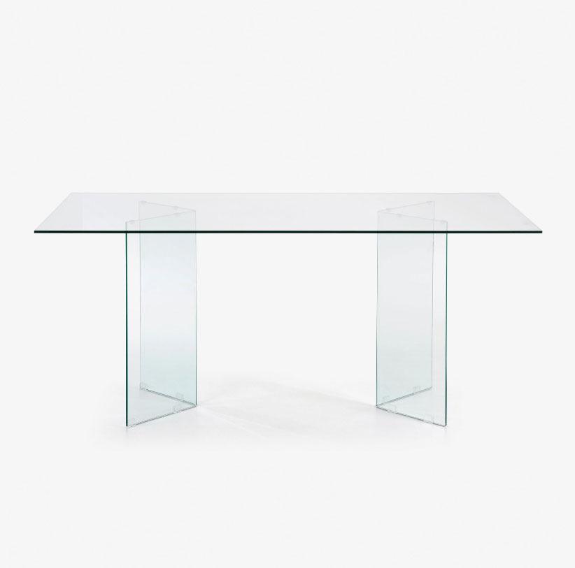 Mesa Burano de cristal 180 x 90 cm