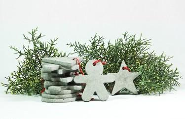 Lo que nos faltaba por hacer en cemento: ¡los adornos de Navidad!
