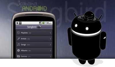 Reproductores de música en Android: Songbird 1.0