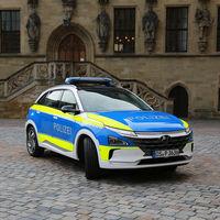 Los coches eléctricos y de hidrógeno de Hyundai se extienden por Europa... como vehículos policía