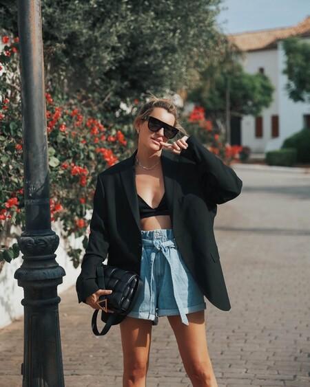 Shorts Blazer Street Style Ss 2021 05