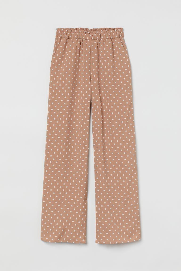 Pantalón con estampado de lunares