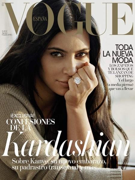 Kim Kardashian sin maquillaje, la sorprendente portada de Vogue España